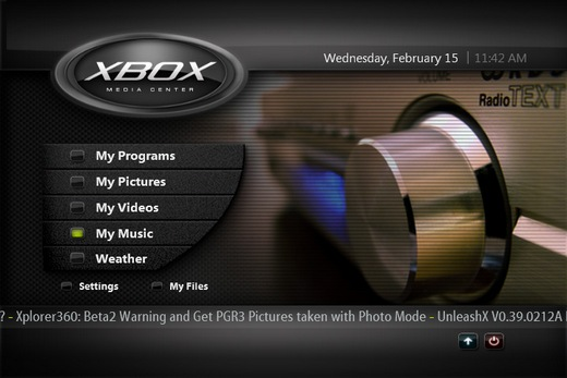 XBMC Main Screenshot